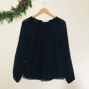 Tory Burch Tops - Tory Burch Long Sleeve Blouse in Black Size 4